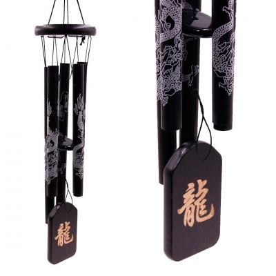 Музыка ветра Дракон, 5 палочек металл, длина 58cm, d-8cm